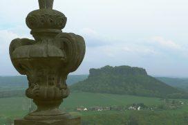 Blick von Königstein auf den Lilienstein - Sächsische Schweiz